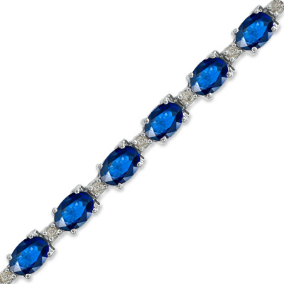 11.40ct tw Sapphire and Diamond Bracelet set in 14k Gold