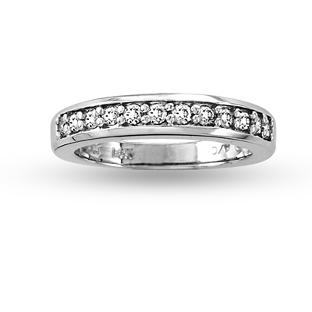 View 0.40ct tw Round Diamonds 14k Gold Prong Set Wedding Band or Anniversary Band