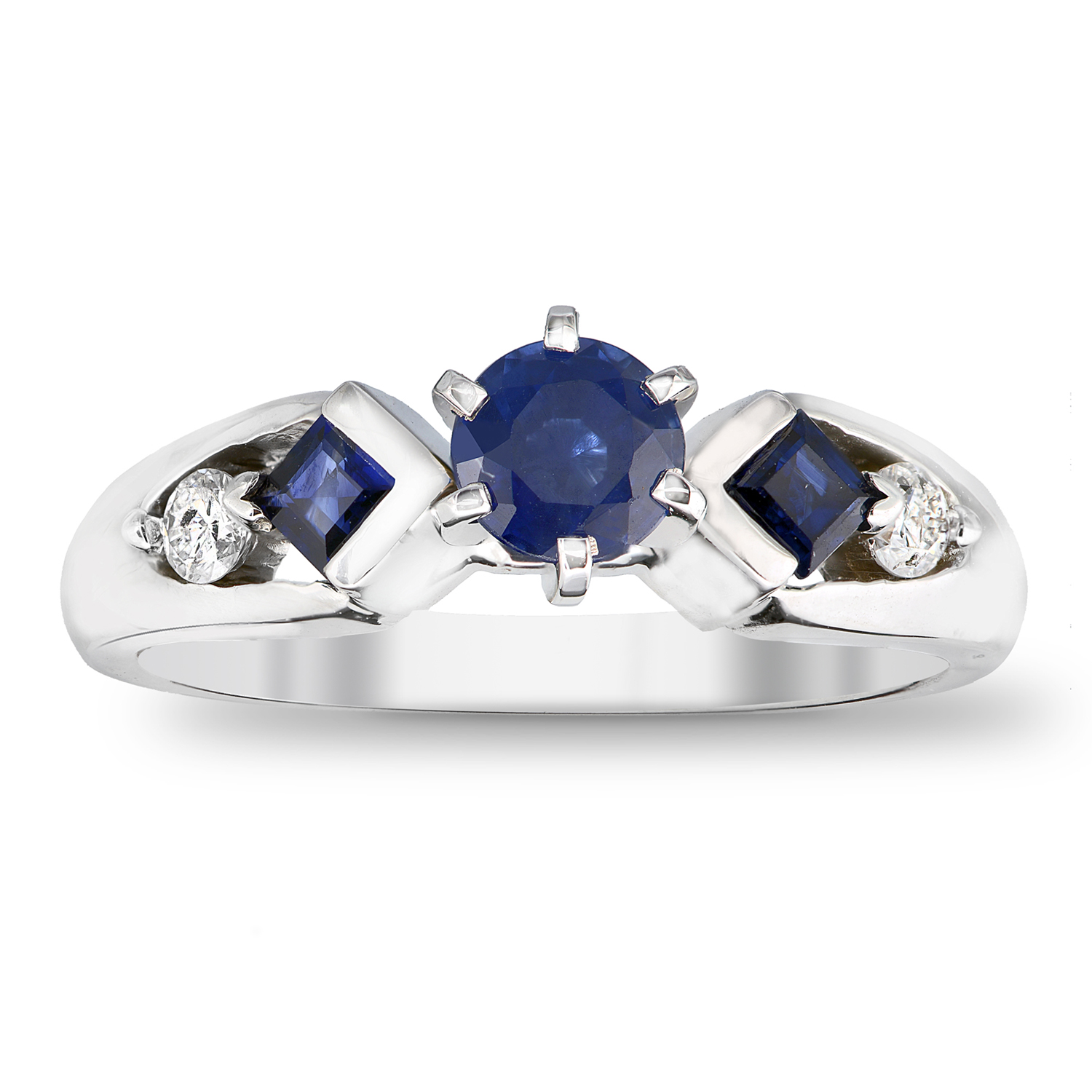 View 1.00cttw Sapphire and Diamond Engagement  Ring in 14k Gold