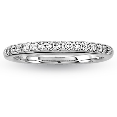 View 0.25ct tw Diamonds Antique Look Wedding Band 14k Gold Bridal Ring