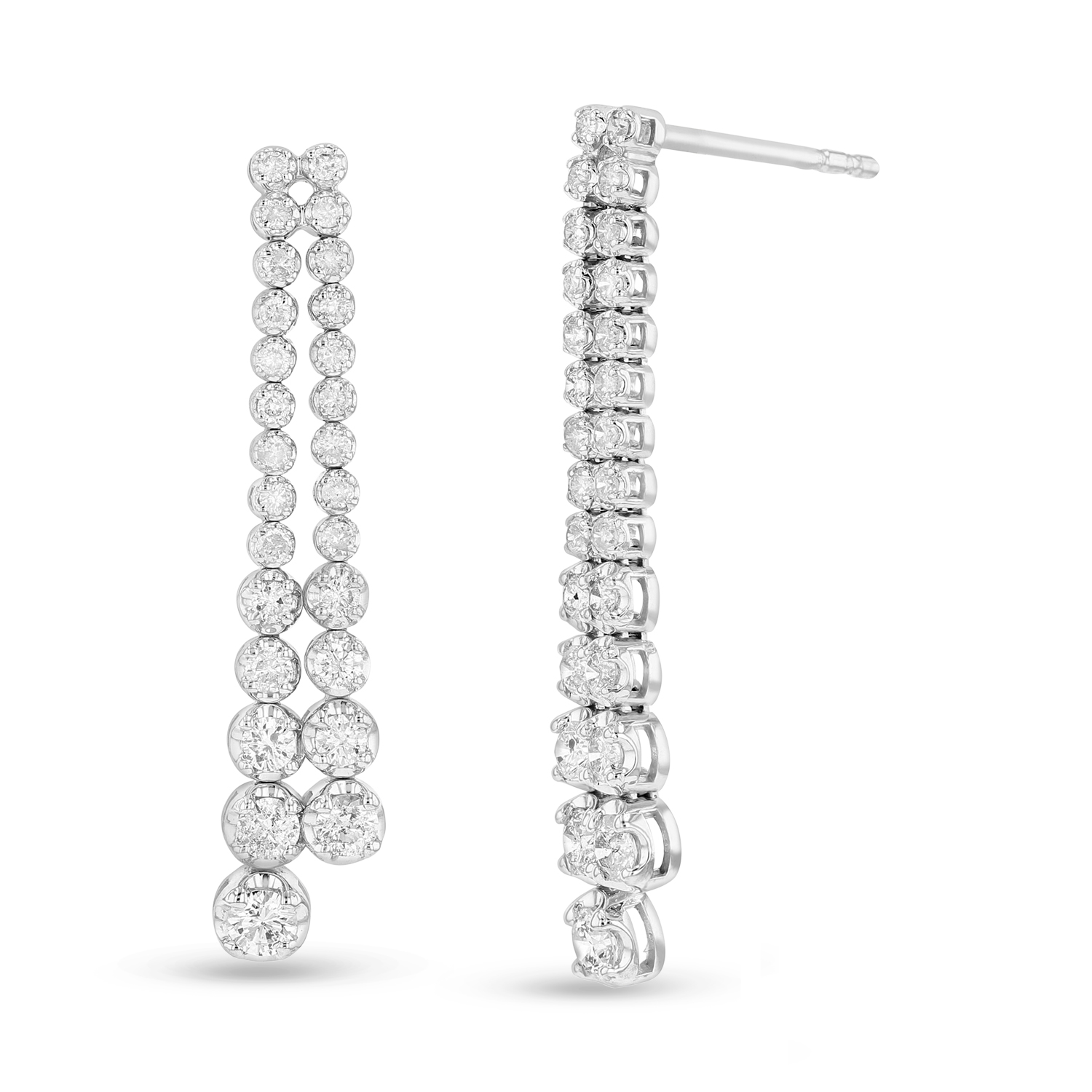 View 1.00 ctw diamond earrings in 14K