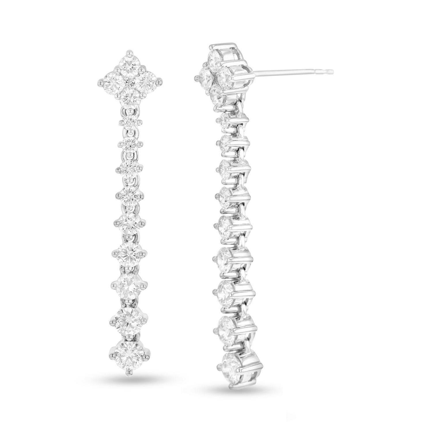 View 1.94ctw Diamonds Fashion Dangling Earrings in 18kWG