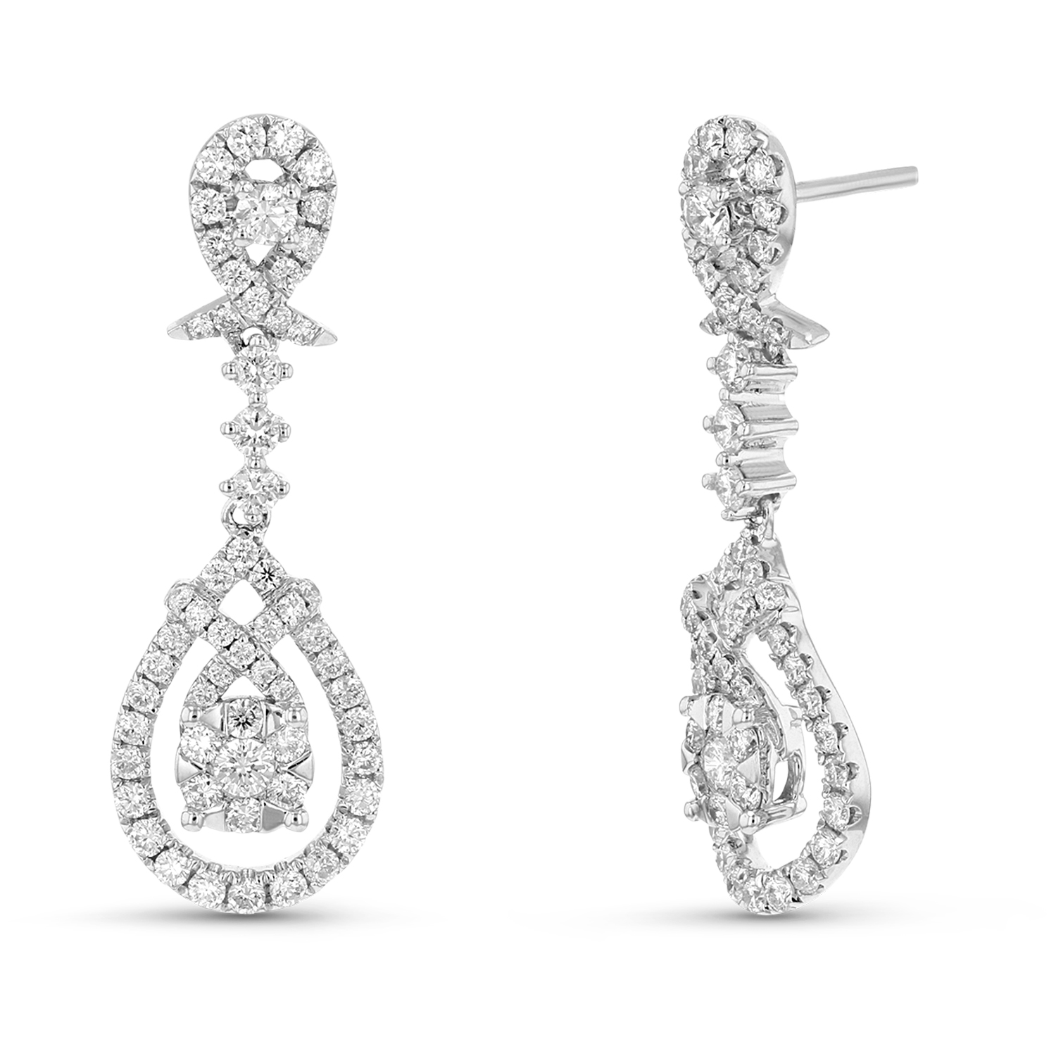 View 1.05 ctw Diamond Earring in 18K