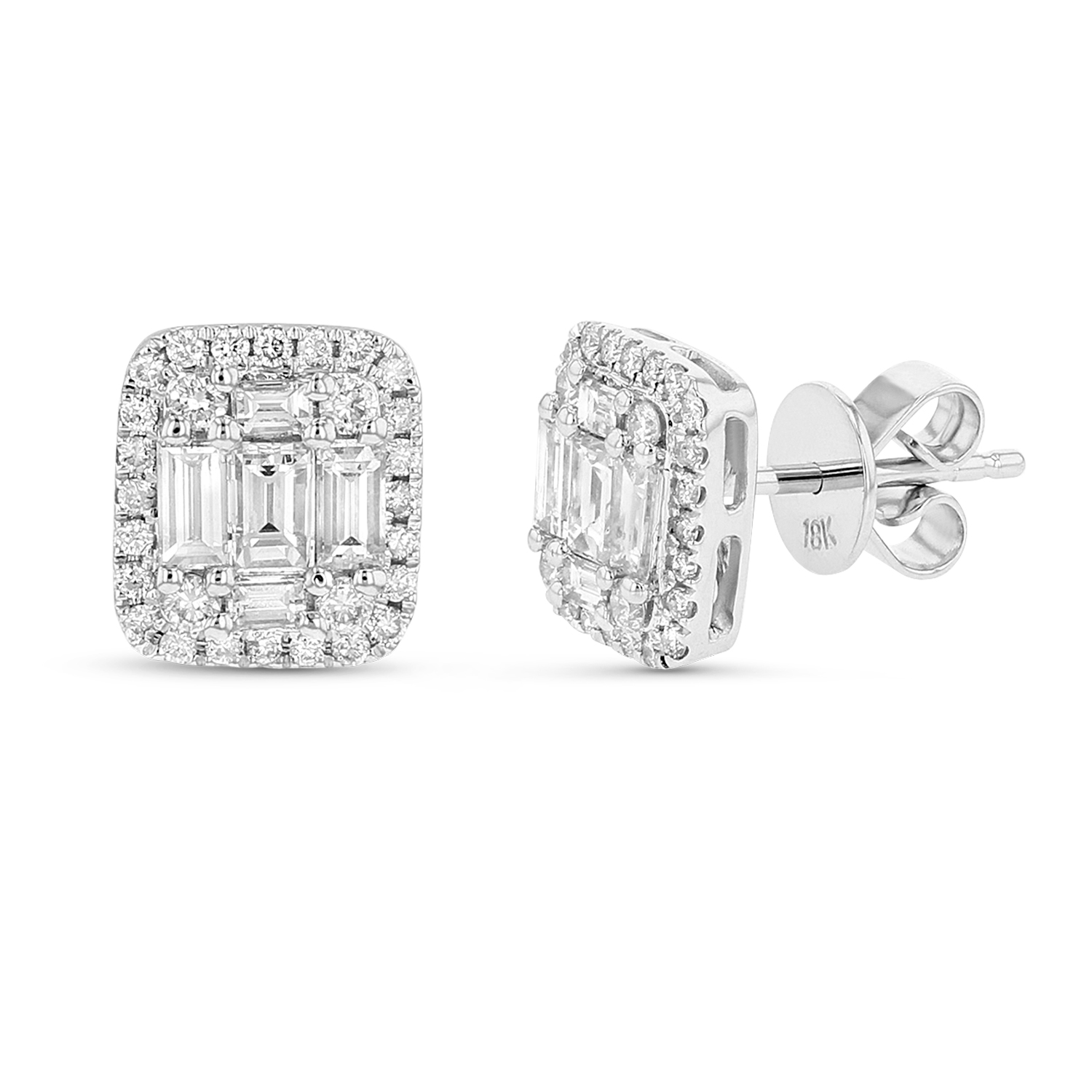 View 0.73ctw Diamond Fashion Earrings in 18k White Gold
