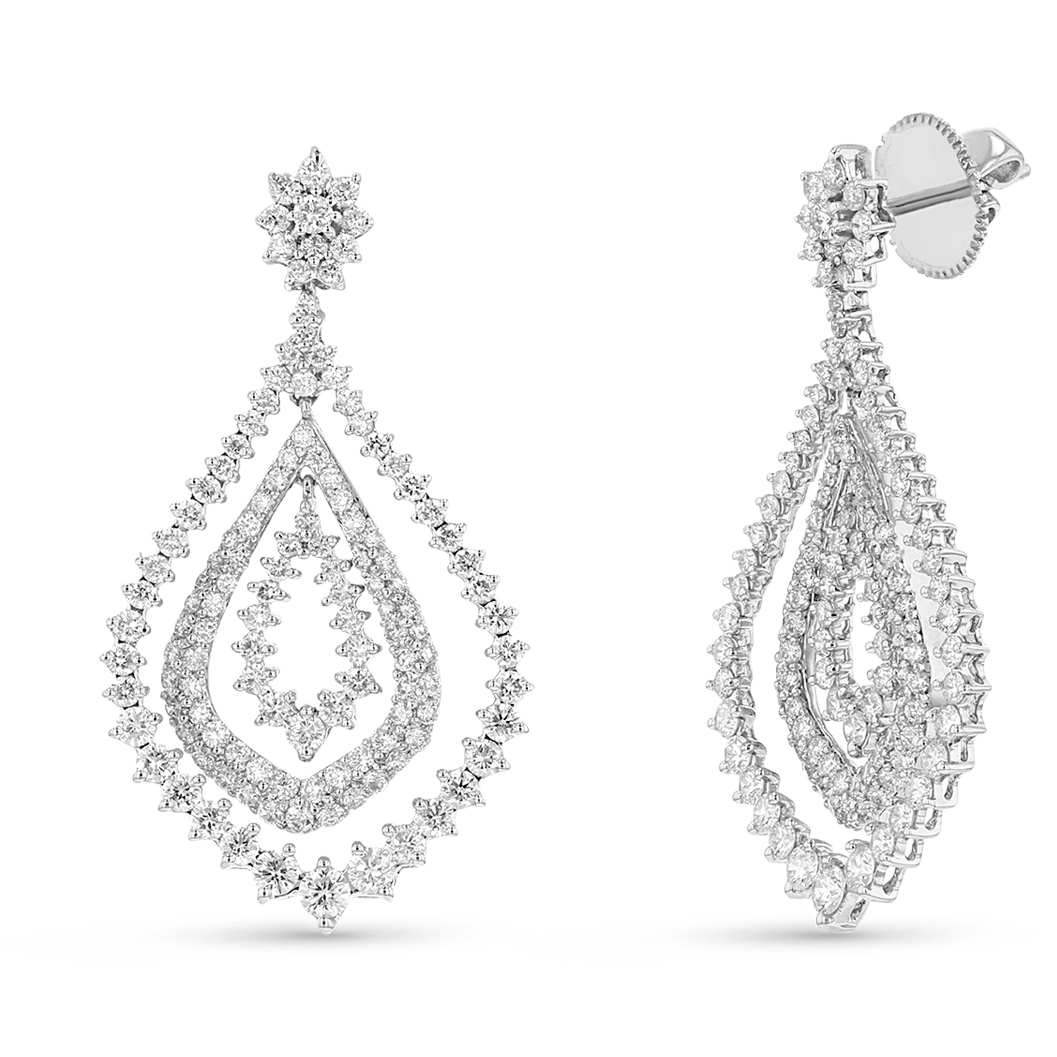 View 2.55ctw Diamond Fashion Earrings in 18k White Gold
