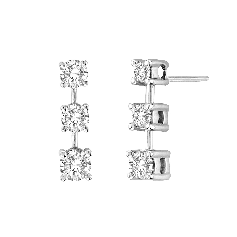 View 0.50 ctw diamond earing in 14K