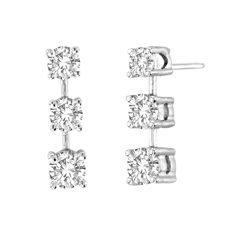 View 1.50 ctw diamond earring in 14K