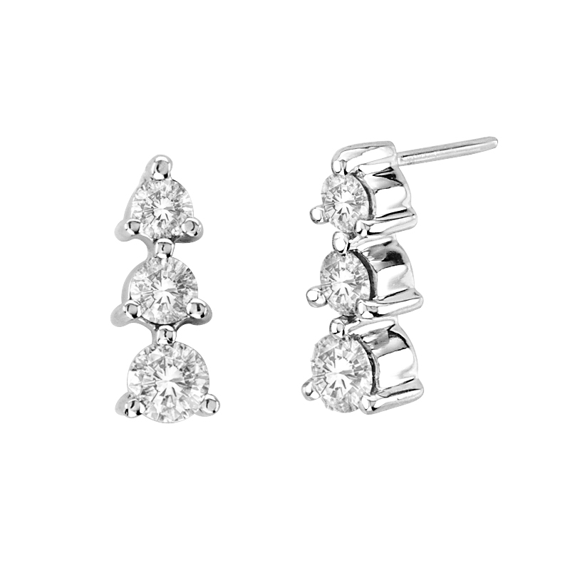 View 1.00 ctw diamond earring in 14K