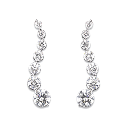 View 14k Gold Journey Earrings with 0.50cts of Diamonds. I-I quality