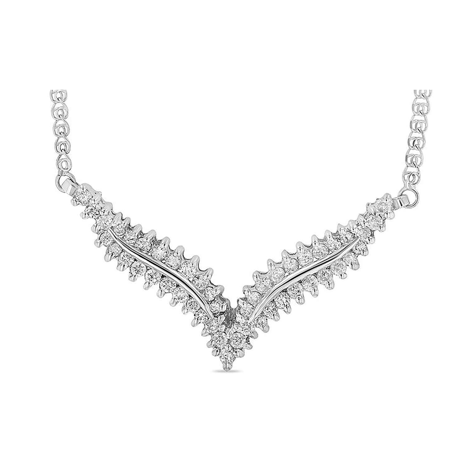 View 1.00ctw Diamond Necklace in 14k Gold