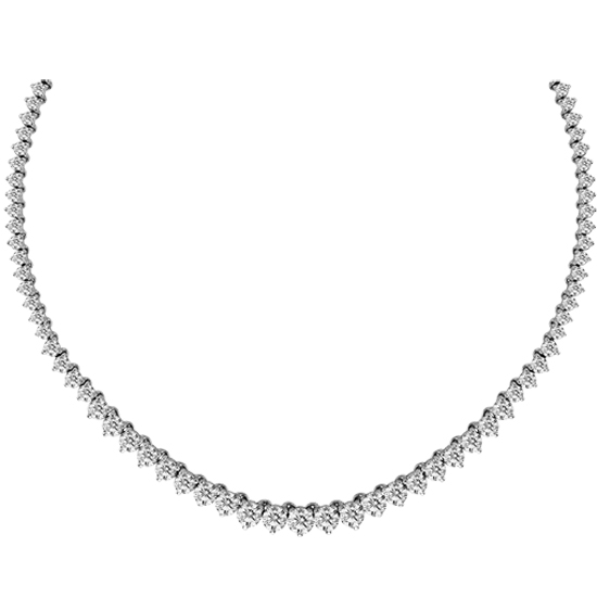 View 6.00 ct tw Graduated Diamond Tennis Necklace 17 Inch 14k Gold