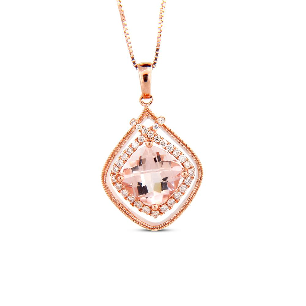 View 1.93cttw Morganite and Diamond Earrings in 14k Rose Gold