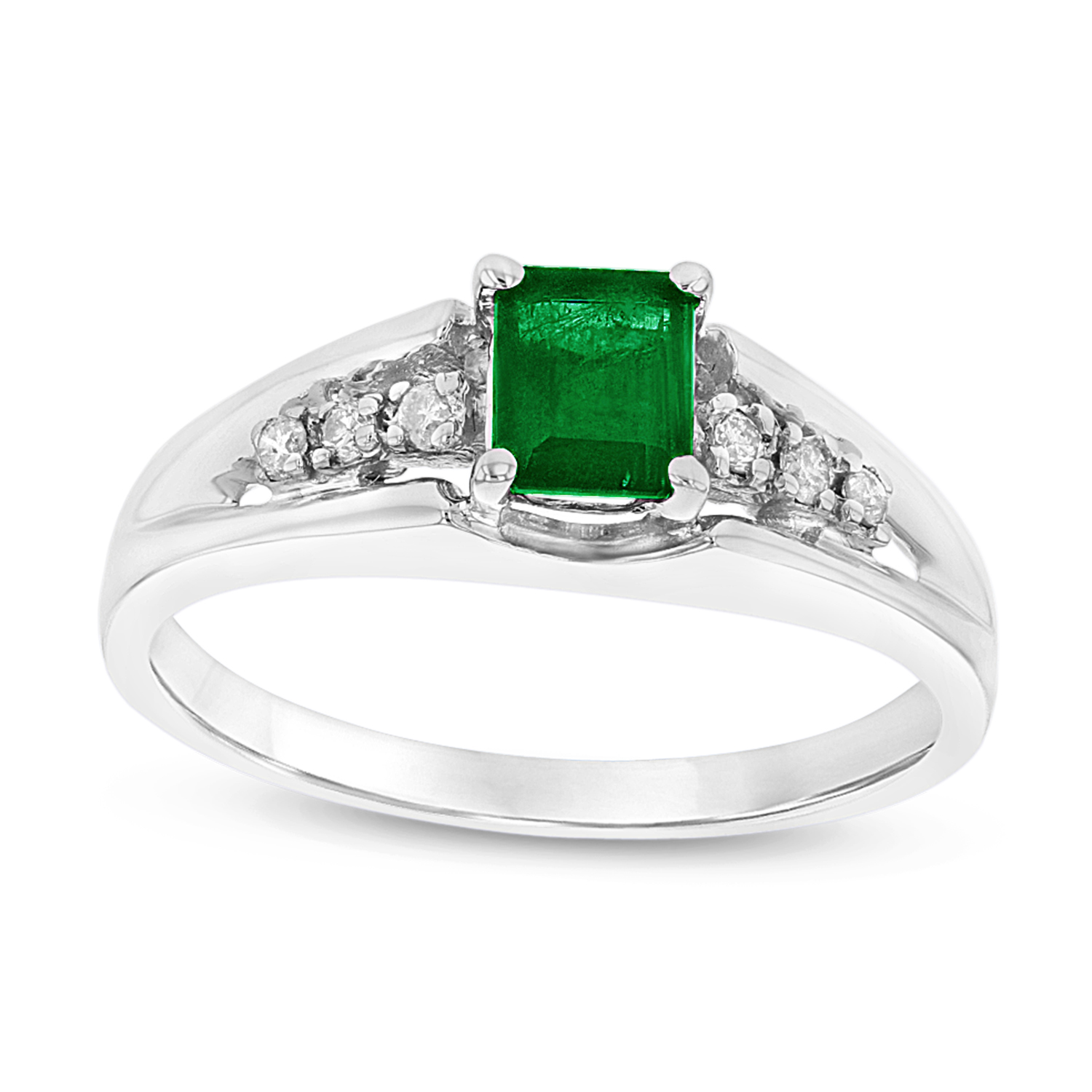 View 0.58cttw Emerald and Diamond Ring set in 14k Gold