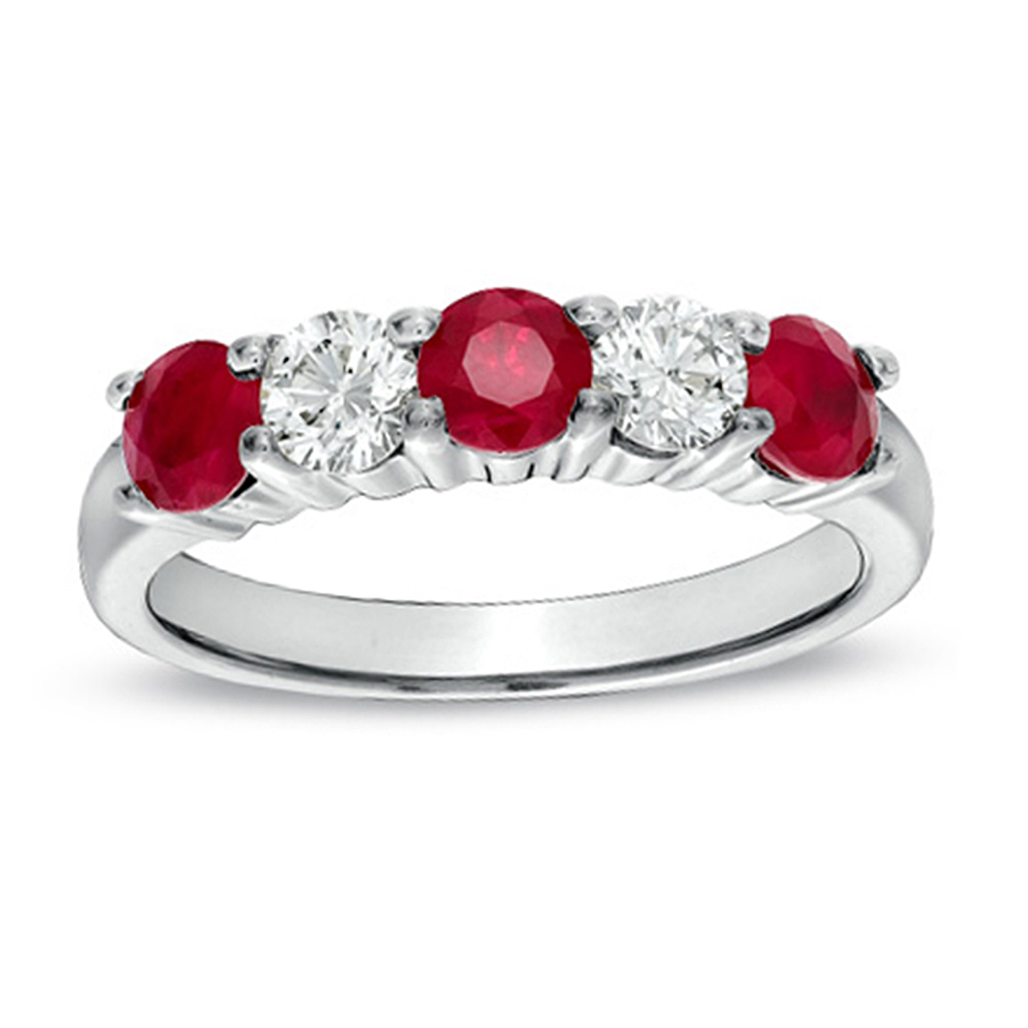 View 1.26cttw Natural Heated Ruby and Diamond Ring set in 14k Gold