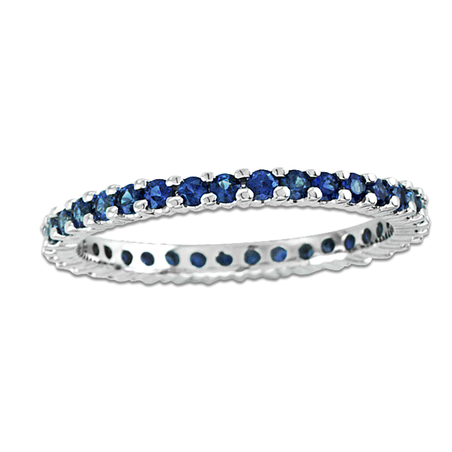 View 14k Gold Sapphire all Around Eternity Ring with 0.80ct tw of Sapphire