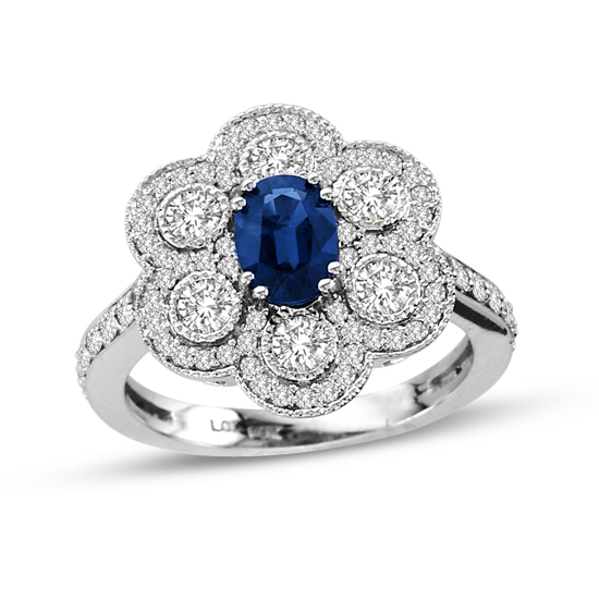 View 2.04cttw Sapphire and Diamond Fashion Ring in 14k Gold