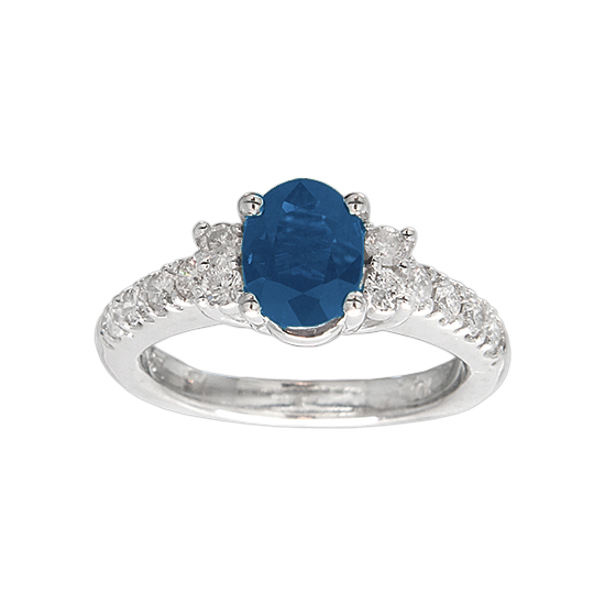 View 1.70cttw Sapphire and Diamond Engagement Ring in 14k Gold