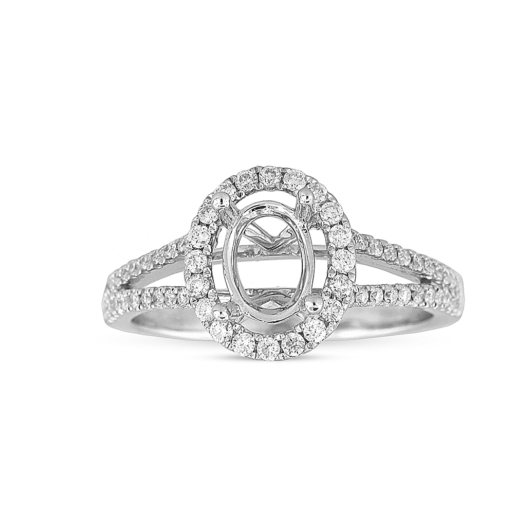 View 0.39ctw Diamond Semi Mount Engagement Ring in 18k WG
