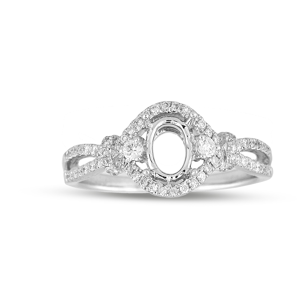 View 0.26ctw Diamond Semi Mount Engagement Ring in 18k WG