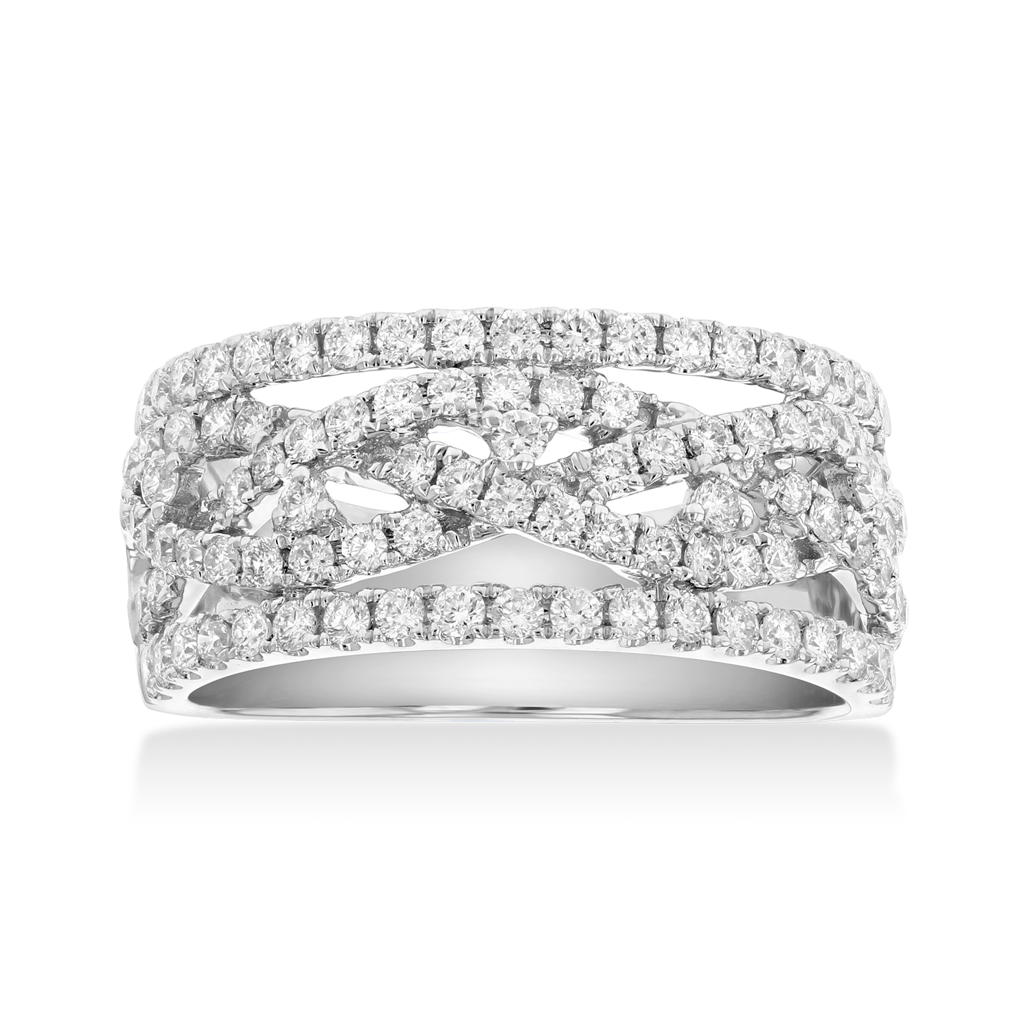 View 0.93ctw Diamond Fashion Band in 18k WG