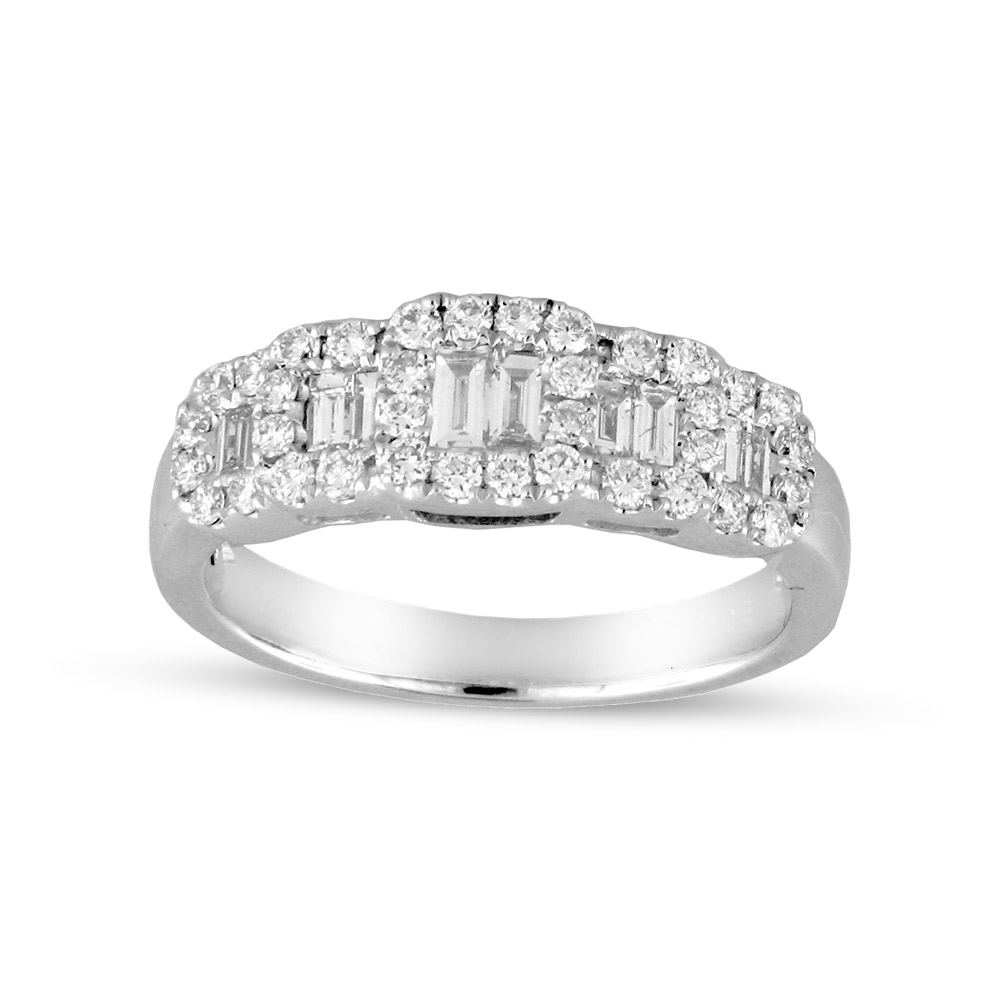 View 0.72ctw Diamond Fashion Wedding Band in 18k Gold