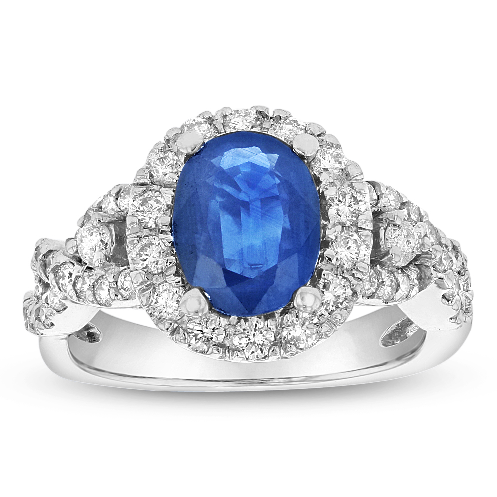 View 2.50ctw Diamond and Sapphire Ring in 14k Gold
