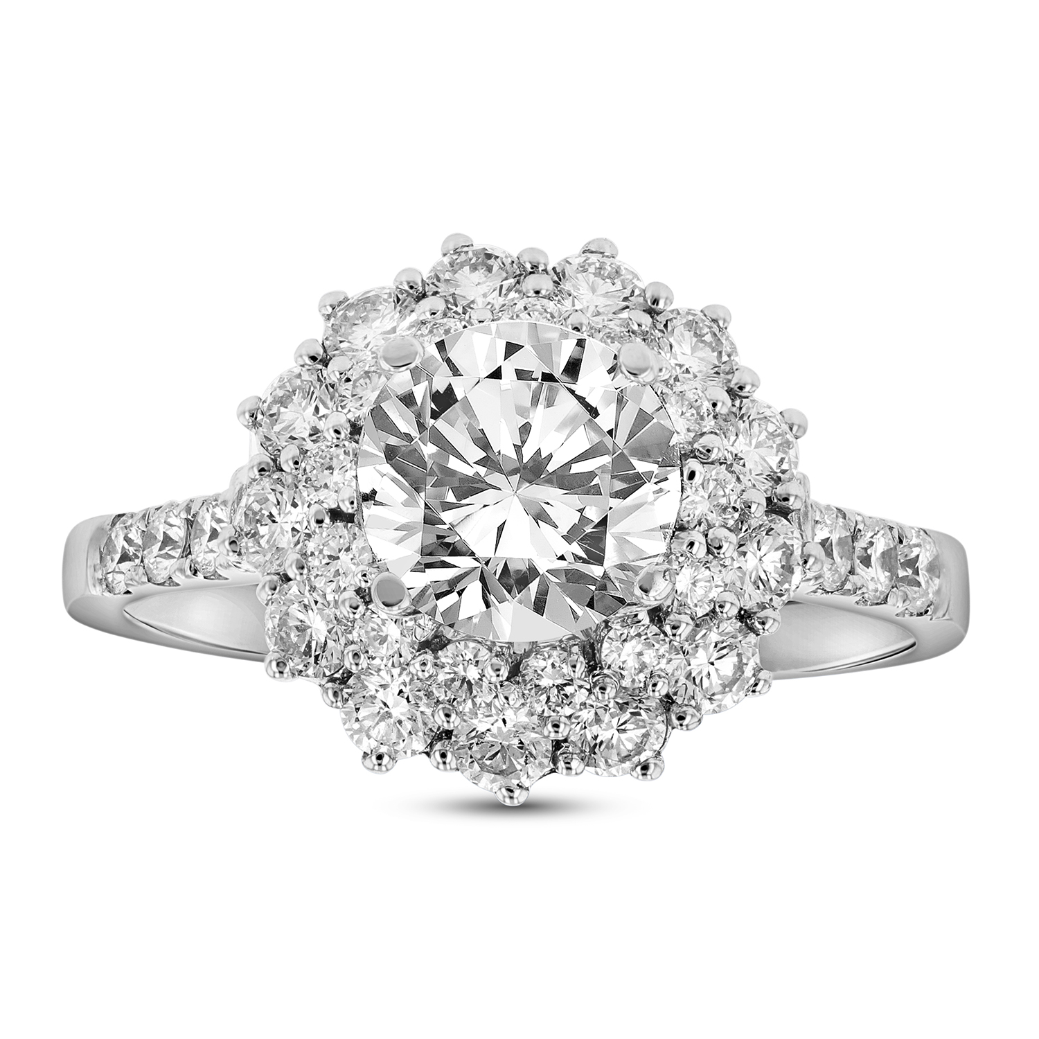 View 1.60ctw Diamond Engagement Ring in 18k white Gold