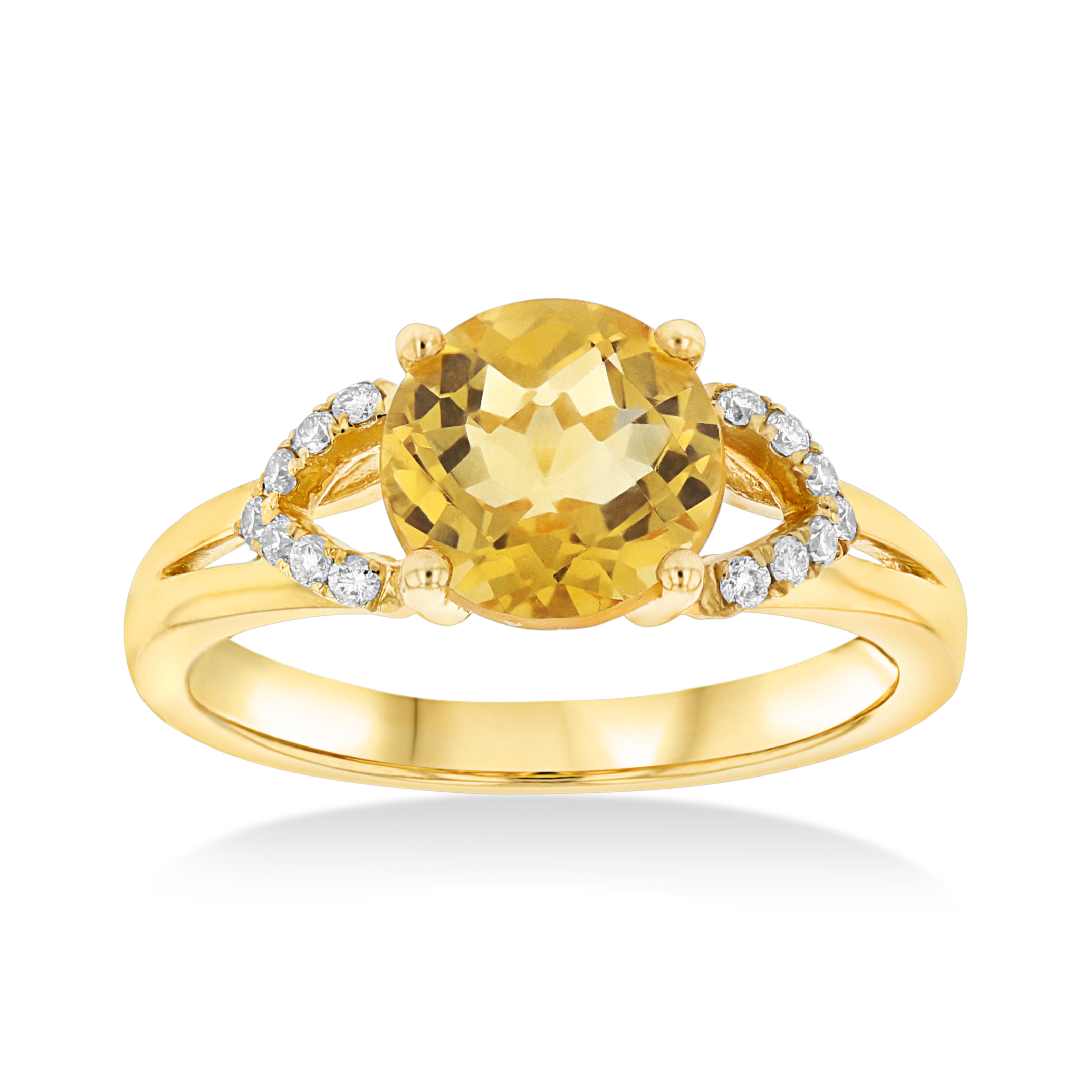 View 0.12ctw Diamond and Citrine Fashion ring in 14k YG