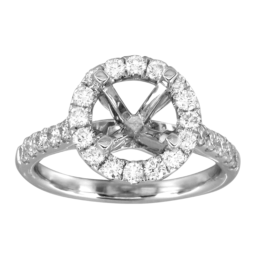 View 0.87ctw Diamond Semi Mount Engagement Ring in 18k Gold