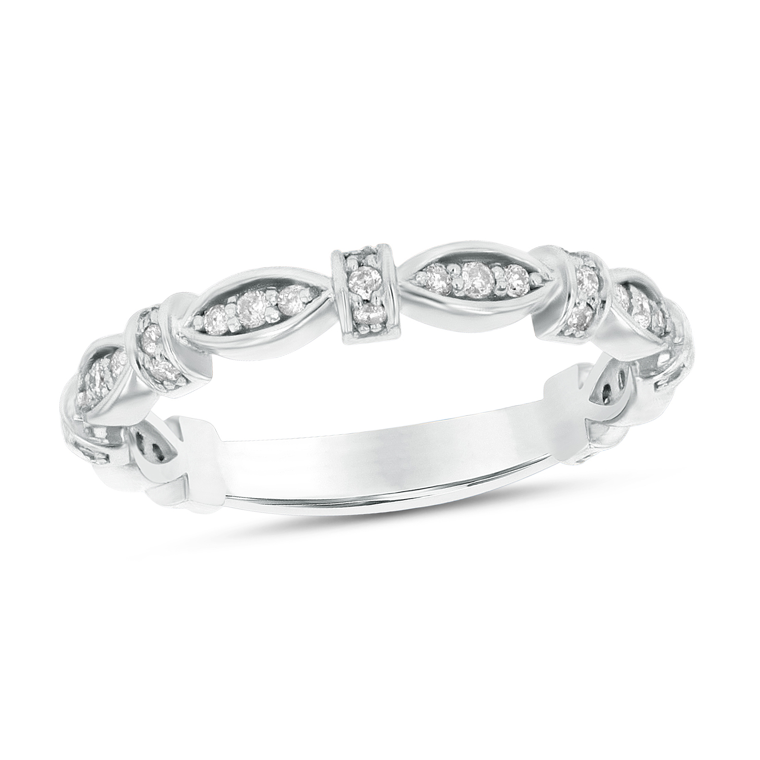 View 0.22ctw Diamond Band in 14k Gold