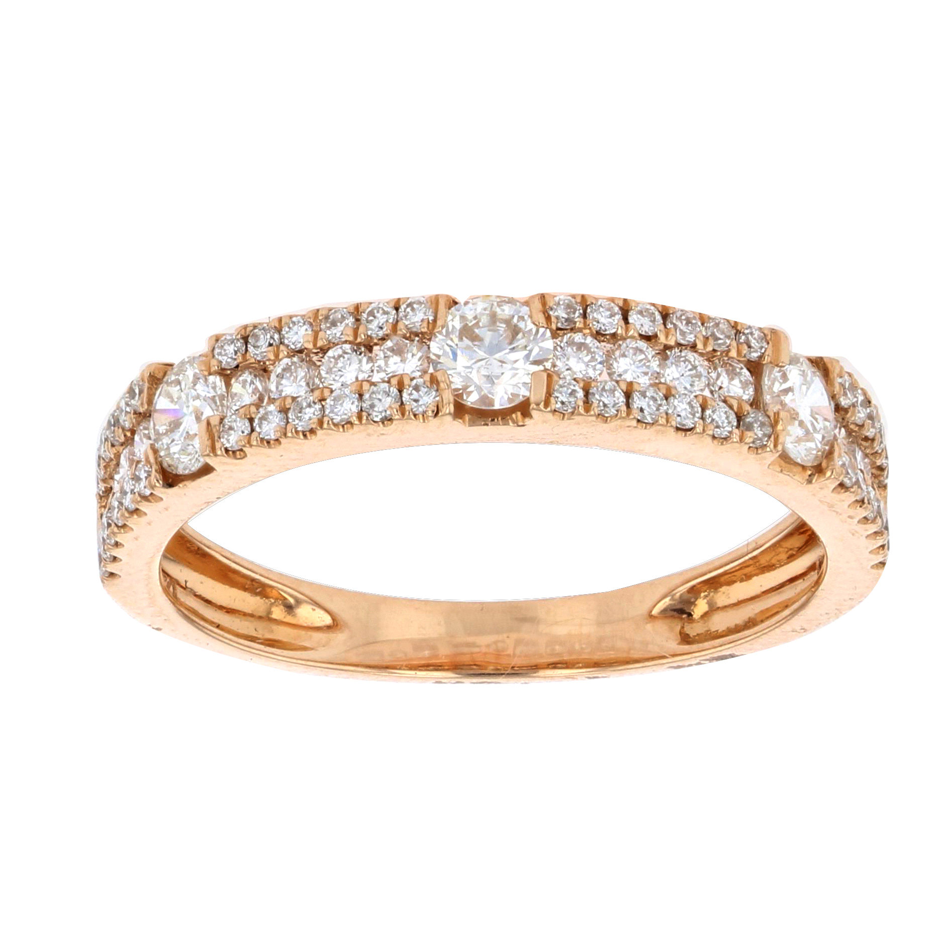 View 0.70ctw Diamond Fashion Band in 18k Rose Gold