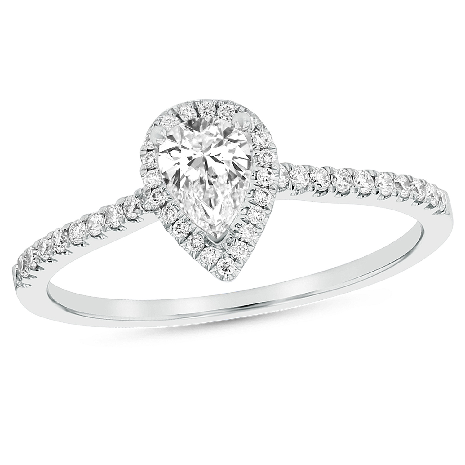View 0.59ctw Diamond Engagement Ring in 18k White Gold