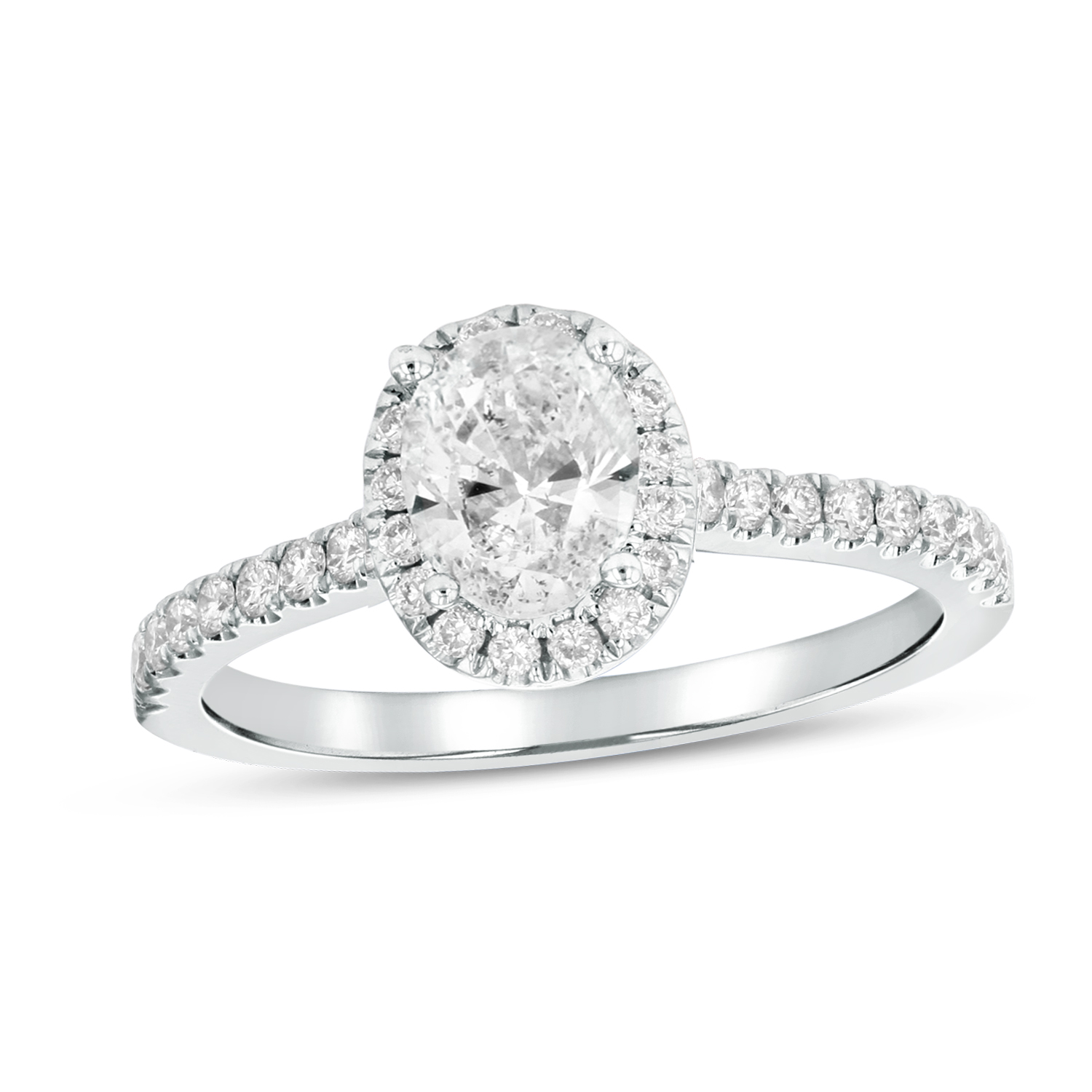 View 0.84ctw Diamond Engagement Ring in 18k Whie Gold