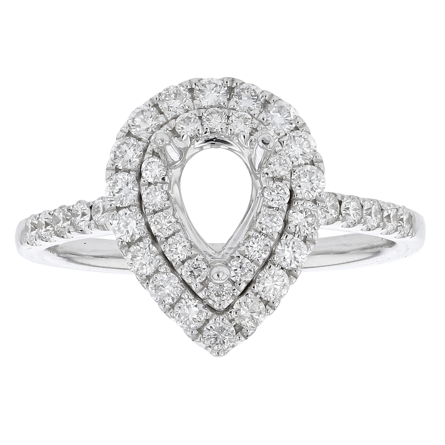 View 0.59ctw Diamond Semi Mount Engagement Ring in 18k White Gold