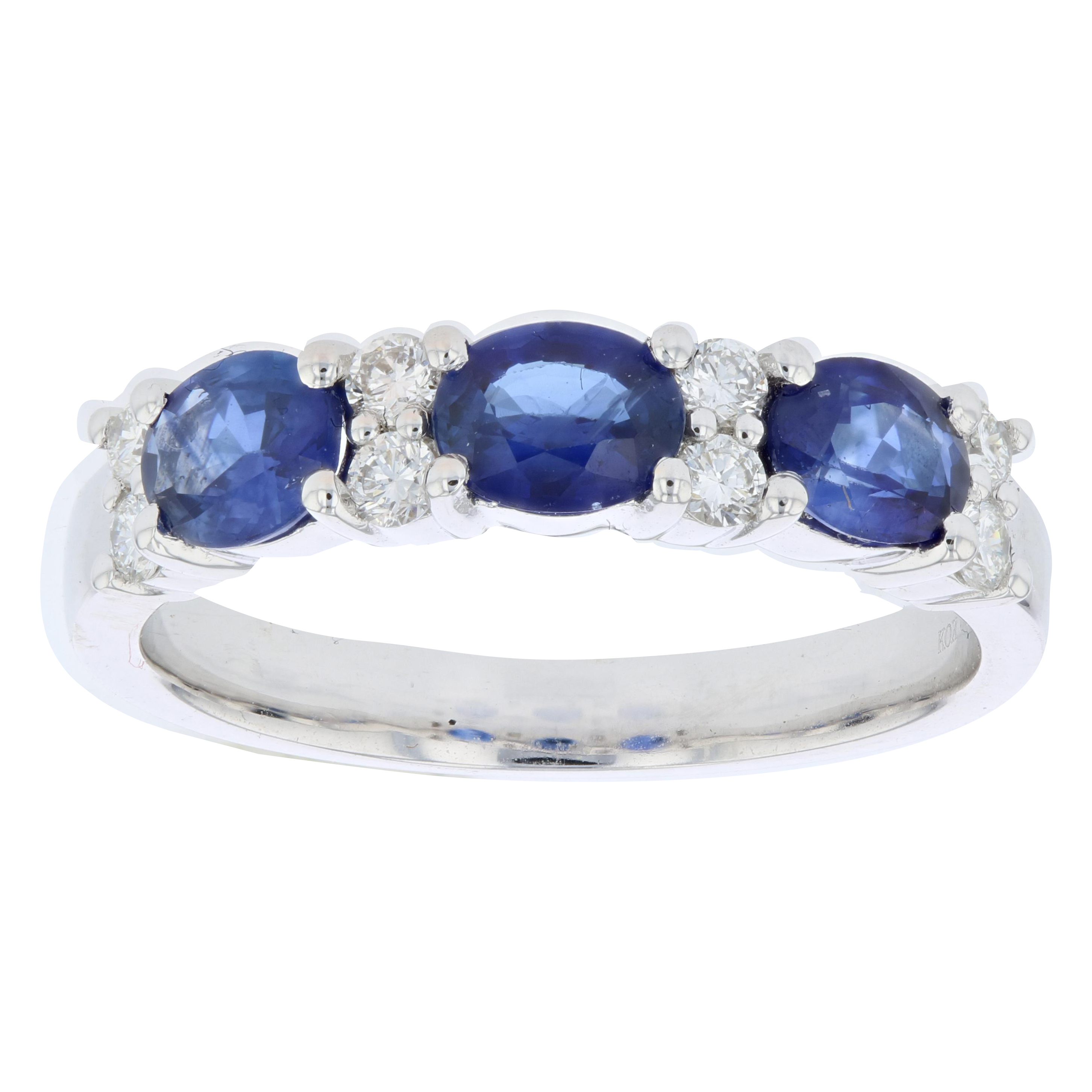 View 1.47ctw Diamond and Sapphire Band in 18k White Gold