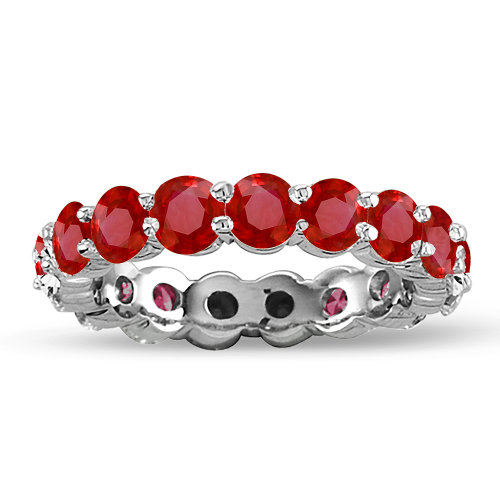 View 2.75ct tw Ruby Eternity Ring in 14k Gold