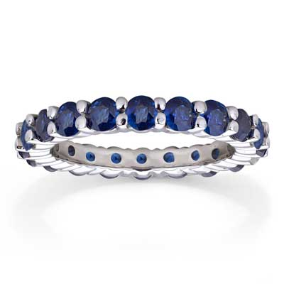 View 2.75ct tw Sapphire Eternity Ring in 14k Gold
