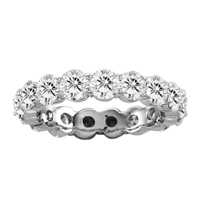 View 4.00cttw Shared Prong All Around Diamond Eternity Band 14k Gold Ring H-I SI Quality(R)